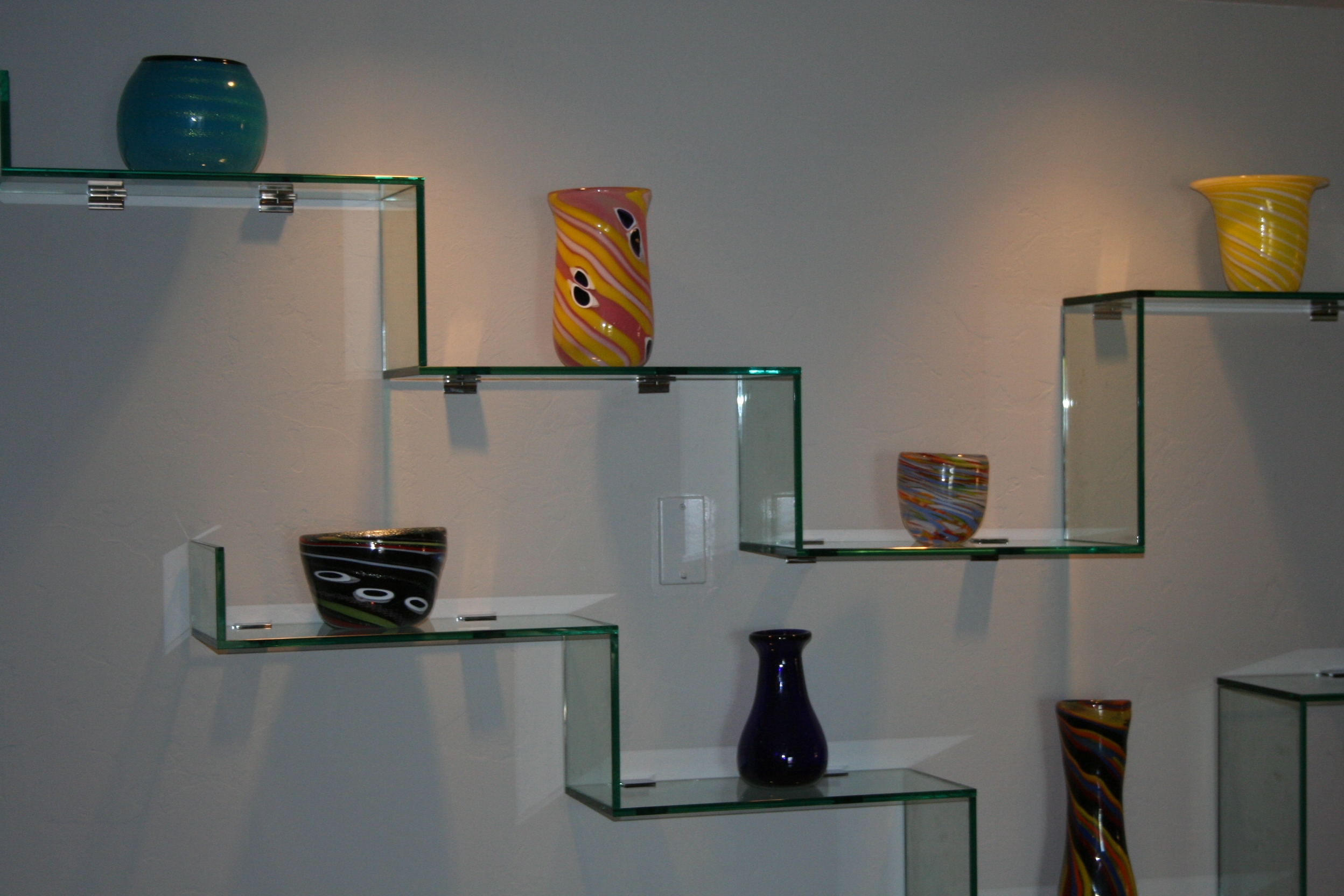 Modern Glass Shelves Wall Mounted Pennsgrovehistory Regarding Glass Shelves (#11 of 12)