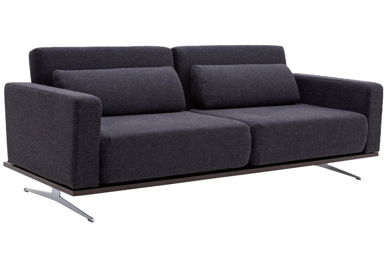 Modern Grey Sofabed Sleeper Venus King Couch Futon The Futon Shop Regarding Sofa Bed Sleepers (#13 of 15)