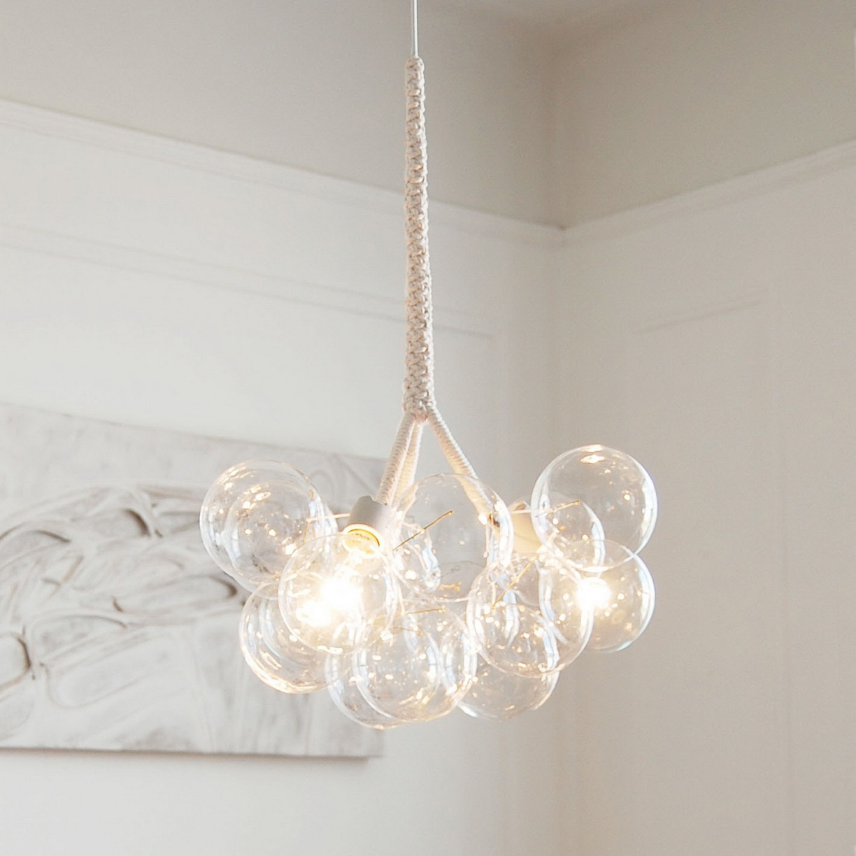 Modern Mini Chandeliers Regarding White Contemporary Chandelier (#9 of 12)