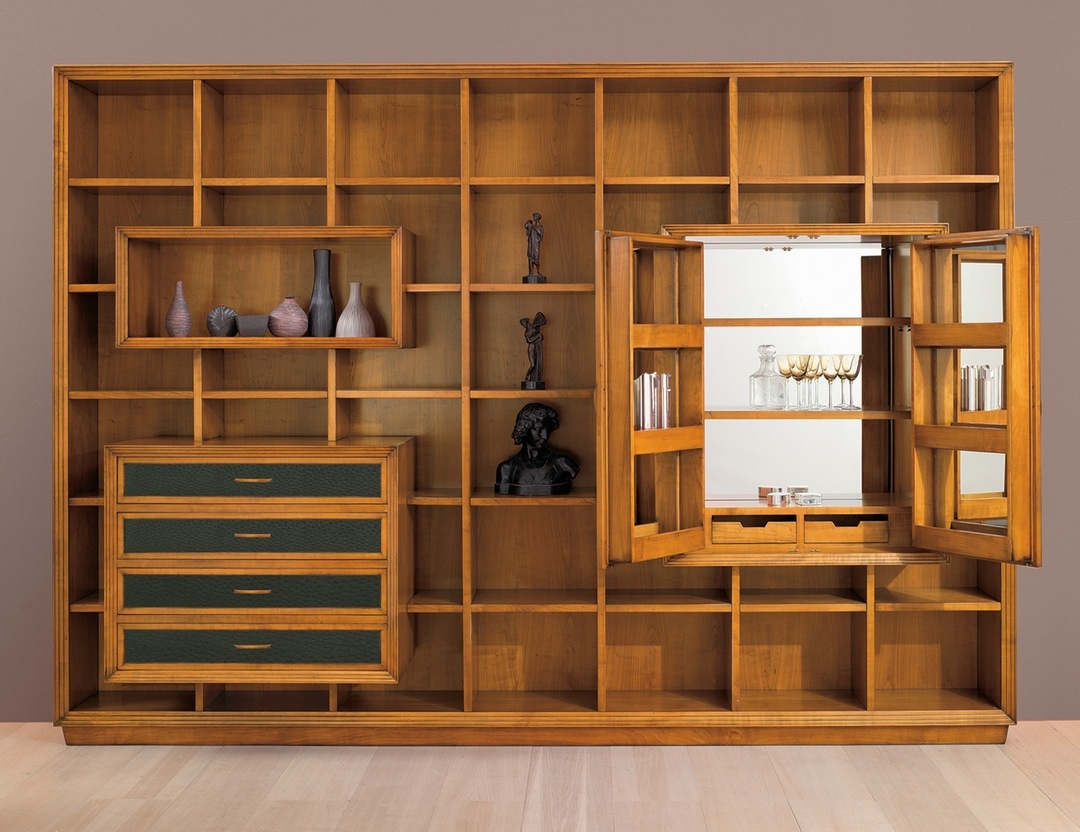 Modern Open Shelving Storage Display Wall Unit Bookshelf Cabinet Regarding Large Bookshelf Units (#10 of 15)