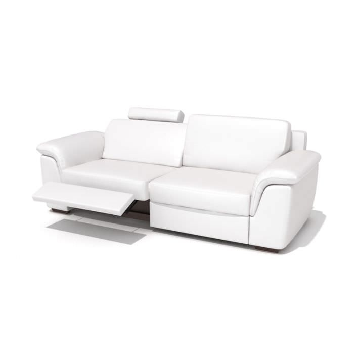 Modern Reclining Leather Sofa 3d Model Throughout Modern Reclining Leather Sofas (#8 of 15)