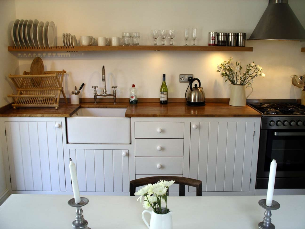 Modern Rustic Kitchen Hand Built Peter Henderson Furniture Pertaining To Handmade Cupboards (Image 12 of 12)