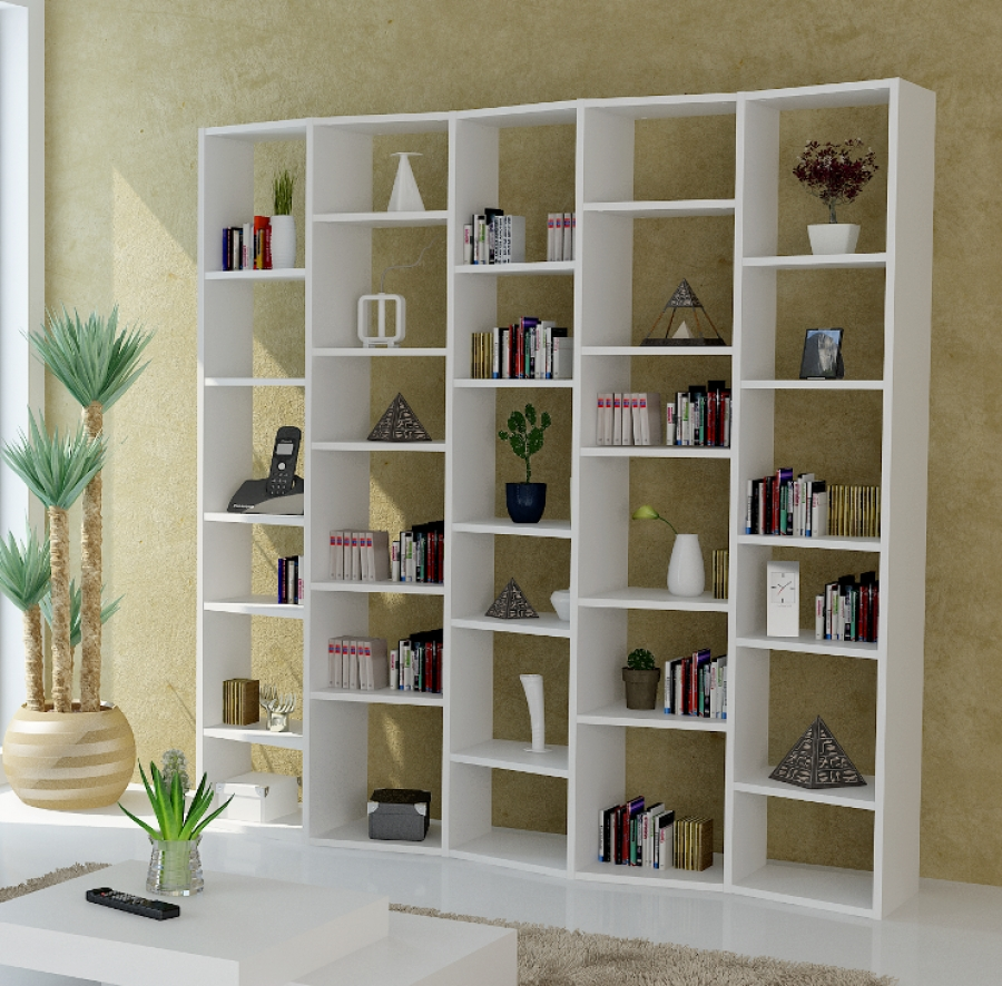 Modern Shelving Unit For White Shelving Units (#10 of 15)