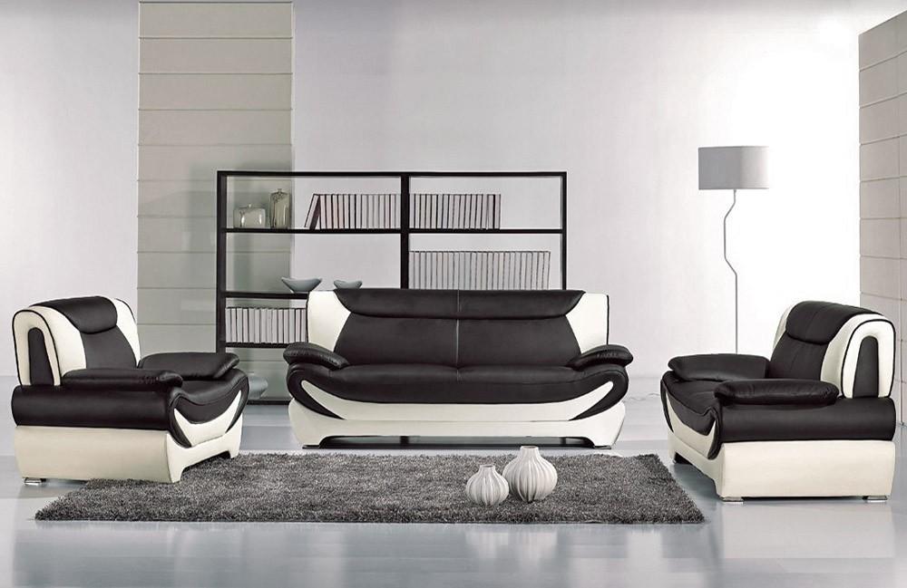 Modern Style Two Tone Sofa Set Throughout Two Tone Sofas (View 10 of 15)