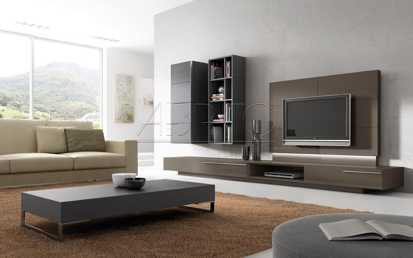 Modern Tv Wall Unit With Tv Wall Unit (#13 of 15)