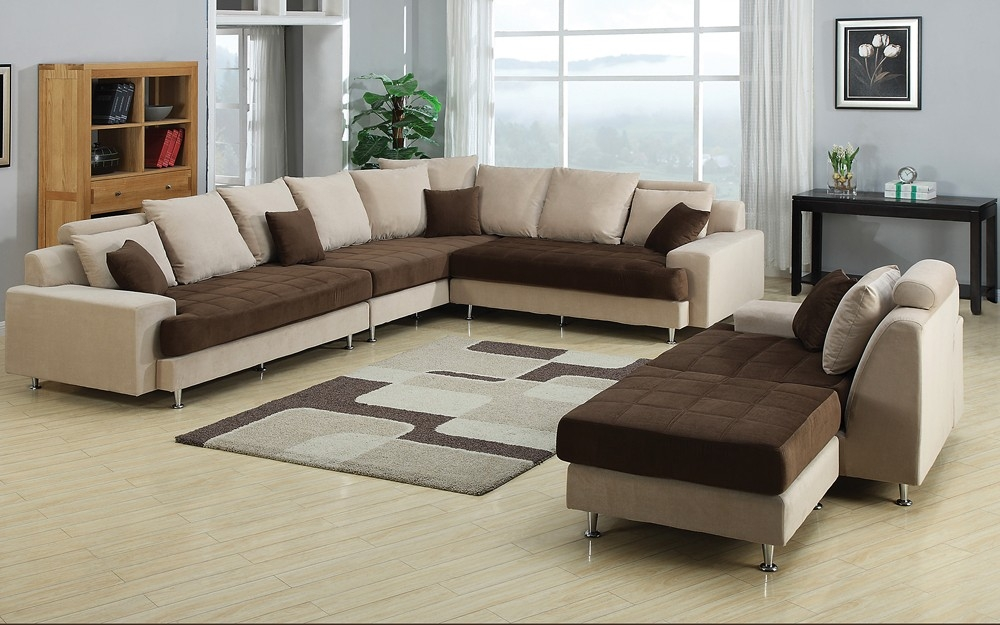 Modern Two Tone Sectional Sofa For Two Tone Sofas (View 1 of 15)