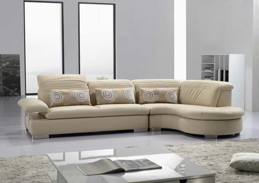 Modern Vg 125 Cream Leather Sectional Sofa Leather Sectionals Regarding Cream Sectional Leather Sofas (#13 of 15)