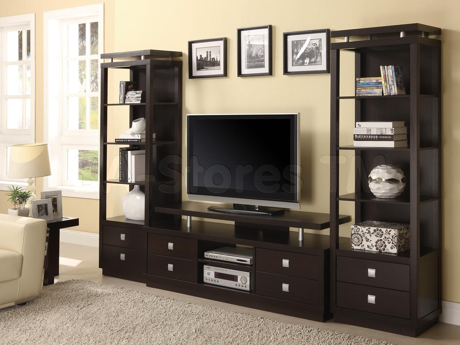 Modern Wall Units Living Roommodern Wall Units With Three Levels Intended For Radiator Cover Tv Stand (View 11 of 15)