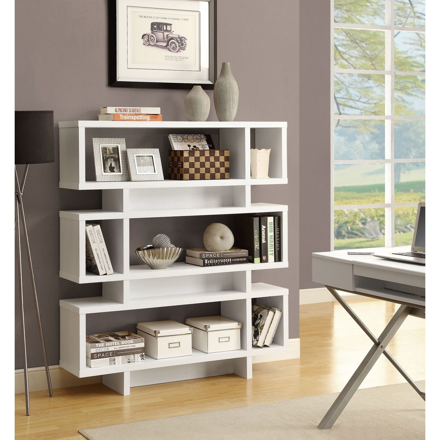 Modern White Bookshelves With Modern Bookcases (#13 of 15)