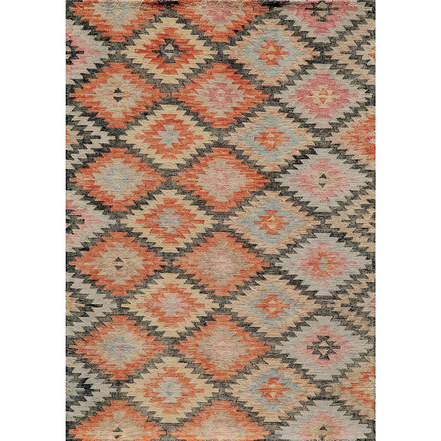 Momeni Tangier Collection Wool Area Rug 5×8 Wool Rugs And With Regard To Hand Hooked Wool Area Rugs (#6 of 15)