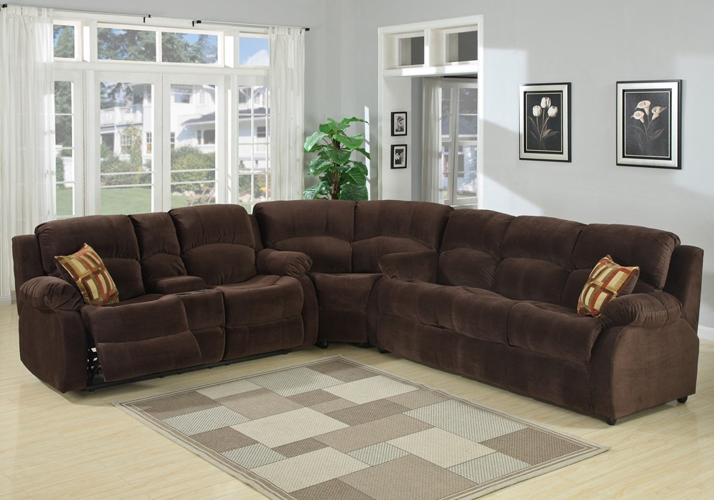 Monica Recliner Sectional Sofa With Regard To Recliner Sectional Sofas (View 4 of 15)