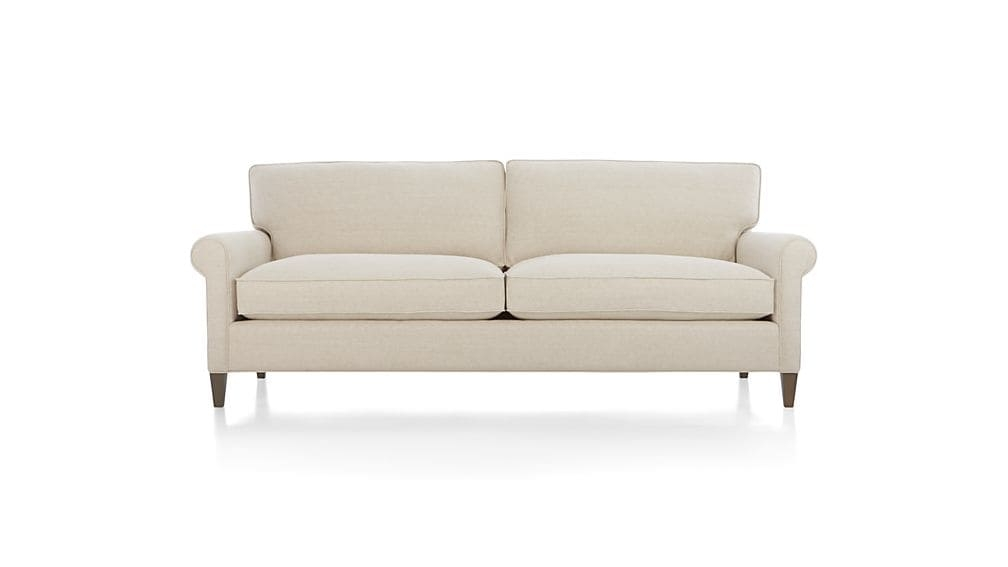 Montclair 2 Seat Sofa Cream Rolled Arm Sofa Crate And Barrel For One Cushion Sofas (#11 of 15)