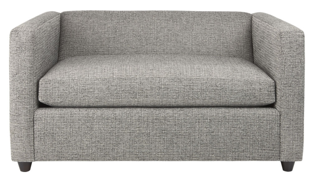 Movie Salt And Pepper Twin Sleeper Sofa Chair Cb2 For Loveseat Twin Sleeper Sofas (#10 of 15)