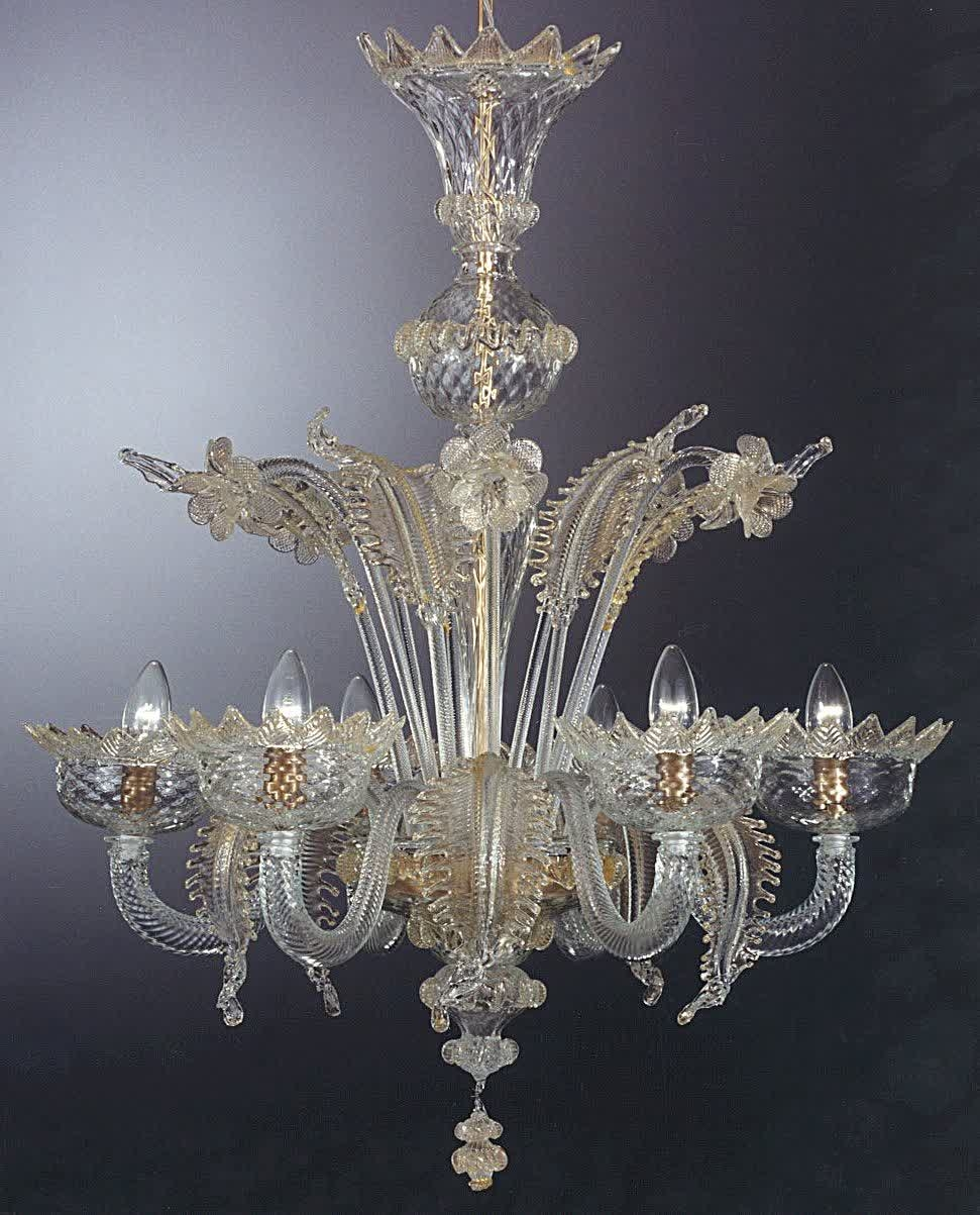 Murano Chandelier Glass In Old Style Regarding Murano Chandelier (#7 of 12)