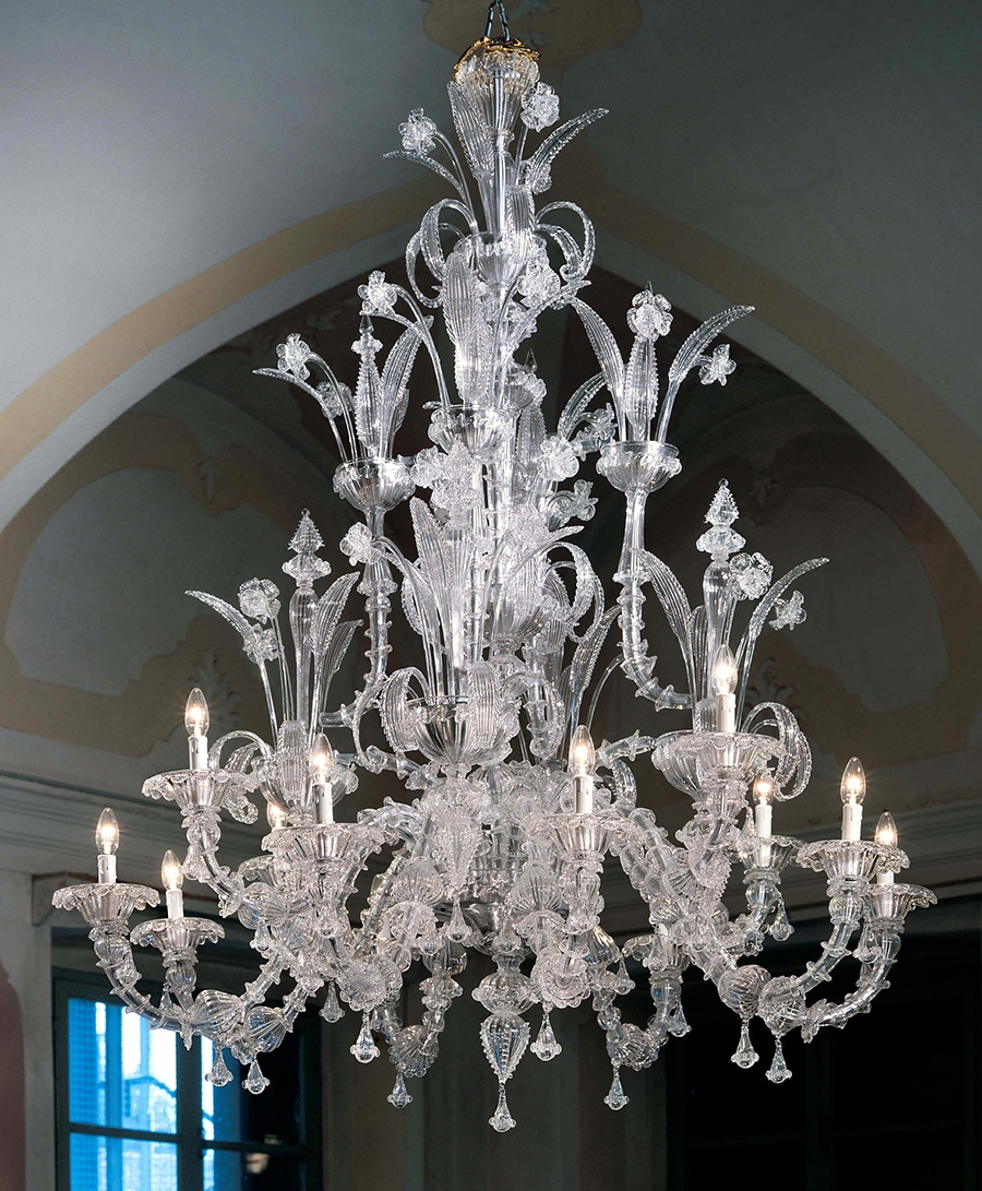 Murano Chandeliers Traditional Venetian Modern Contemporary Pertaining To Glass Chandeliers (#10 of 12)