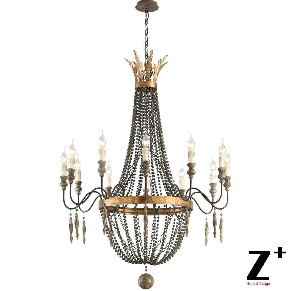 Murano Flower Chandelier Kristin 3 Light Antique White Hanging For Murano Chandelier Replica (#4 of 12)