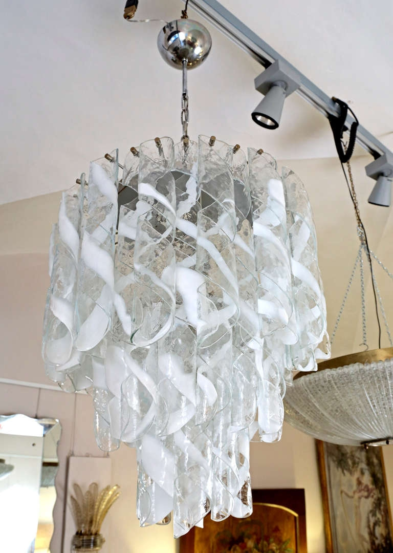 Murano Glass Mazzega Murano Chandelier 1960s At 1stdibs Throughout Murano Chandelier Replica (#6 of 12)