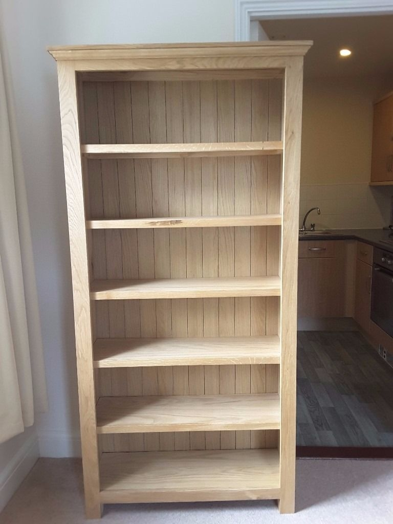 Must Go Westminster Large Oak Bookcase Pre Built Not A Flat Pack Pertaining To Flat Pack Bookcase (#10 of 15)
