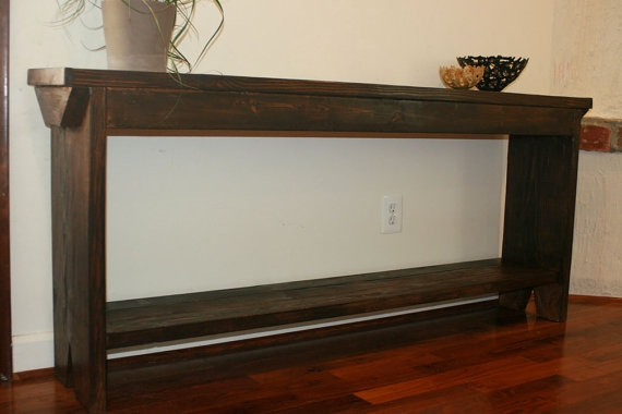Narrow Hall Console Table Sofa Table Or Entry Table Mid Century Intended For Narrow Sofa Tables (#9 of 15)