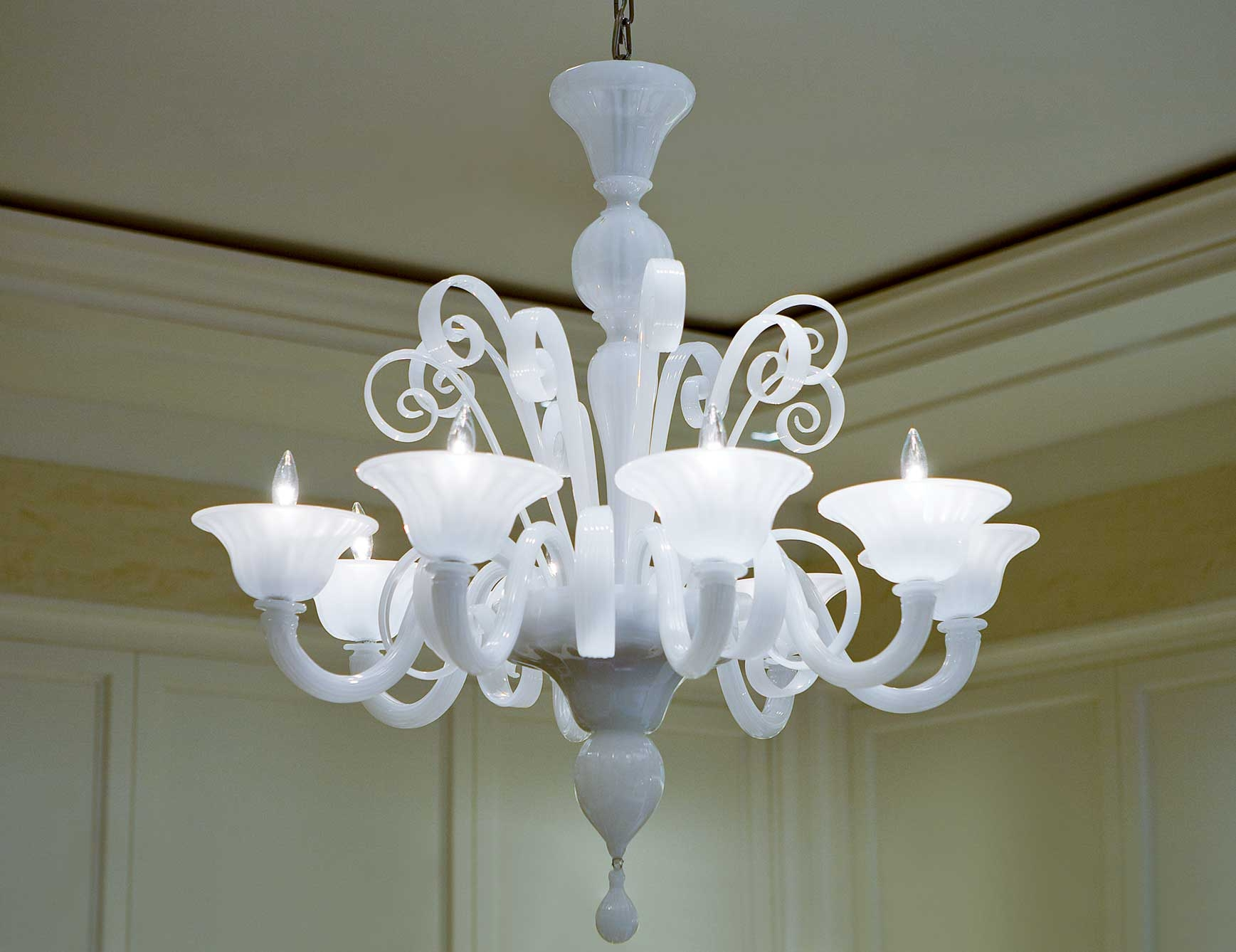 Popular Photo of Murano Chandelier Replica