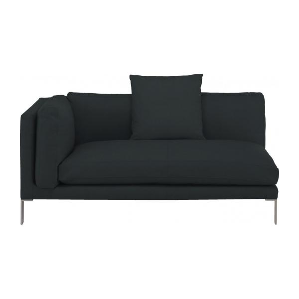 Newman Leather Left Arm 2 Seater Sofa Habitat With Regard To Black 2 Seater Sofas (#10 of 15)