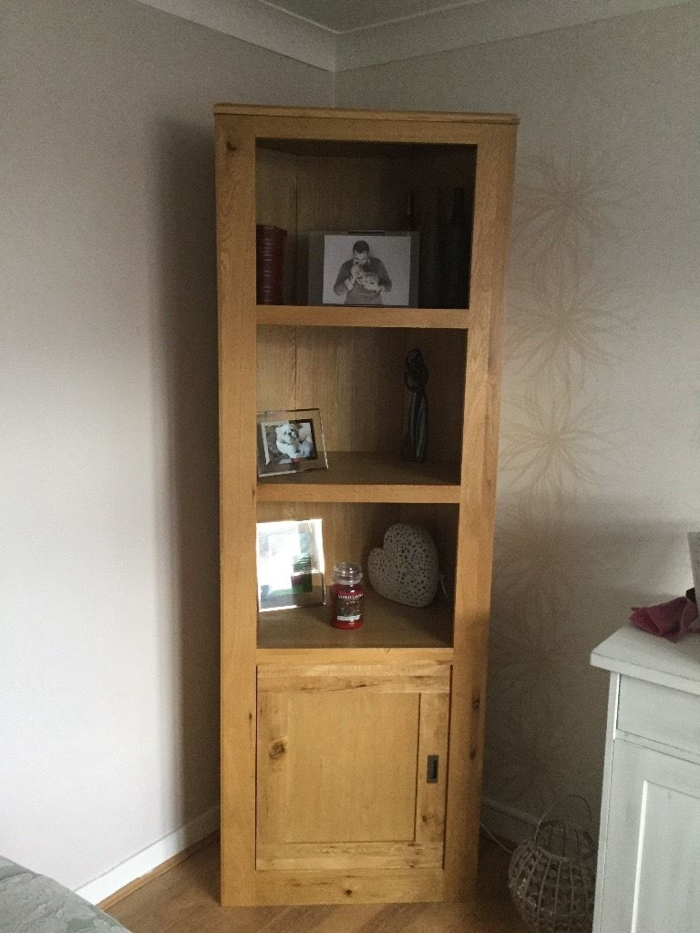 Best Collection Corner Oak Bookcase