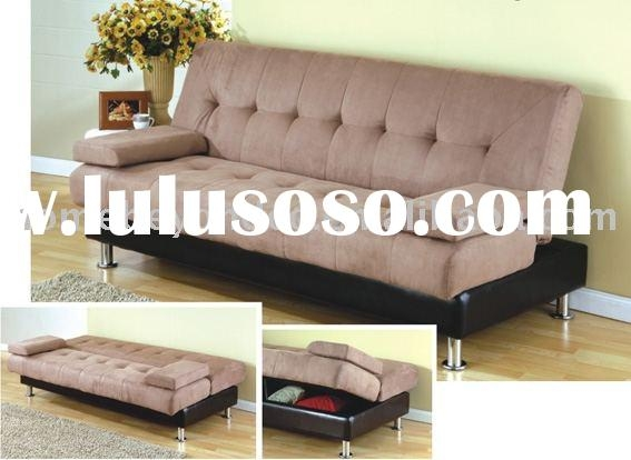 Nice Futon Sofa Bed With Storage Chocolate Plush Microfiber Inside Sofa Beds With Storages (#12 of 15)