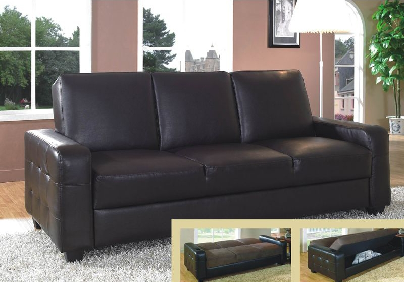 Nice Leather Sofa Bed With Storage Fernando Faux Leather Sofa Bed Within Leather Sofa Beds With Storage (#9 of 15)