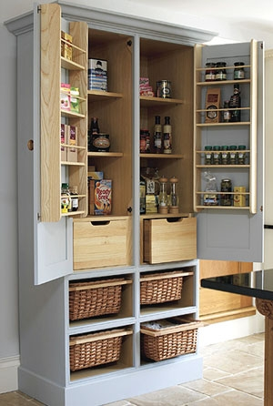 No Pantry Space Turn An Old Tv Armoire Into A Pantry Cupboard Regarding Free Standing Kitchen Larder Cupboards (#15 of 15)