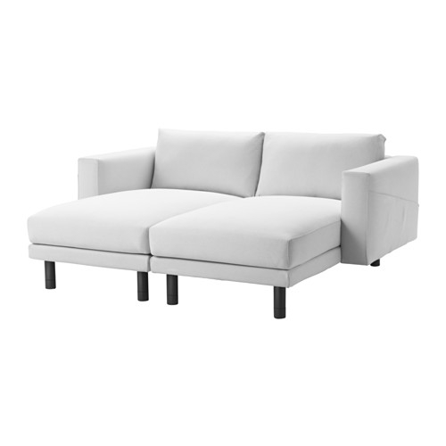Norsborg Sectional 2 Seat Finnsta White Gray Ikea In 2 Seat Sectional Sofas (#7 of 15)