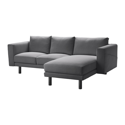 Norsborg Two Seat Sofa With Chaise Longue Finnsta Dark Grey Intended For Sofas With Chaise Longue (#13 of 15)