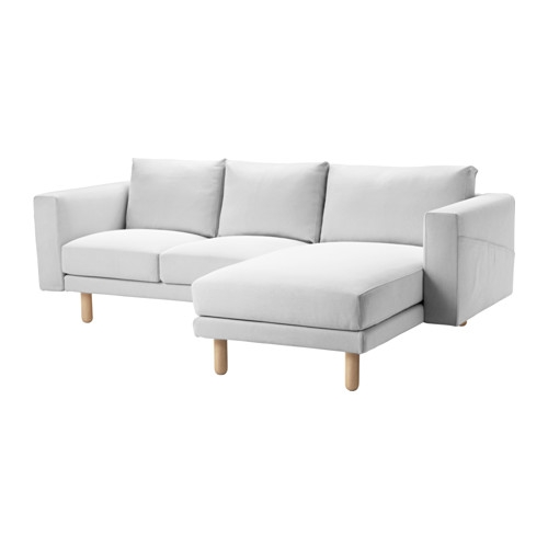 Norsborg Two Seat Sofa With Chaise Longue Finnsta Whitebirch Ikea Intended For IKEA Chaise Lounge Sofa (View 15 of 15)