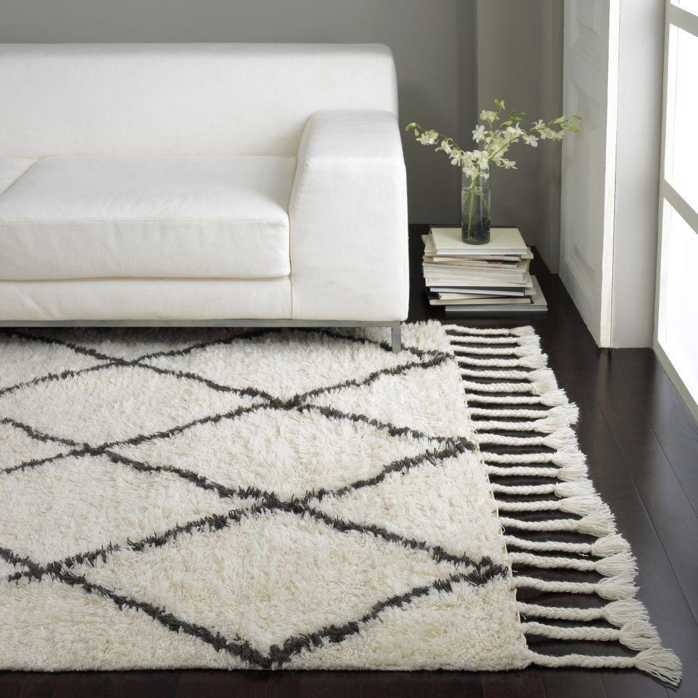 Nuloom Fez Shag Natural 9 Ft X 12 Ft Area Rug Spre14a 9012 The Regarding Wool Shag Area Rug (#9 of 15)