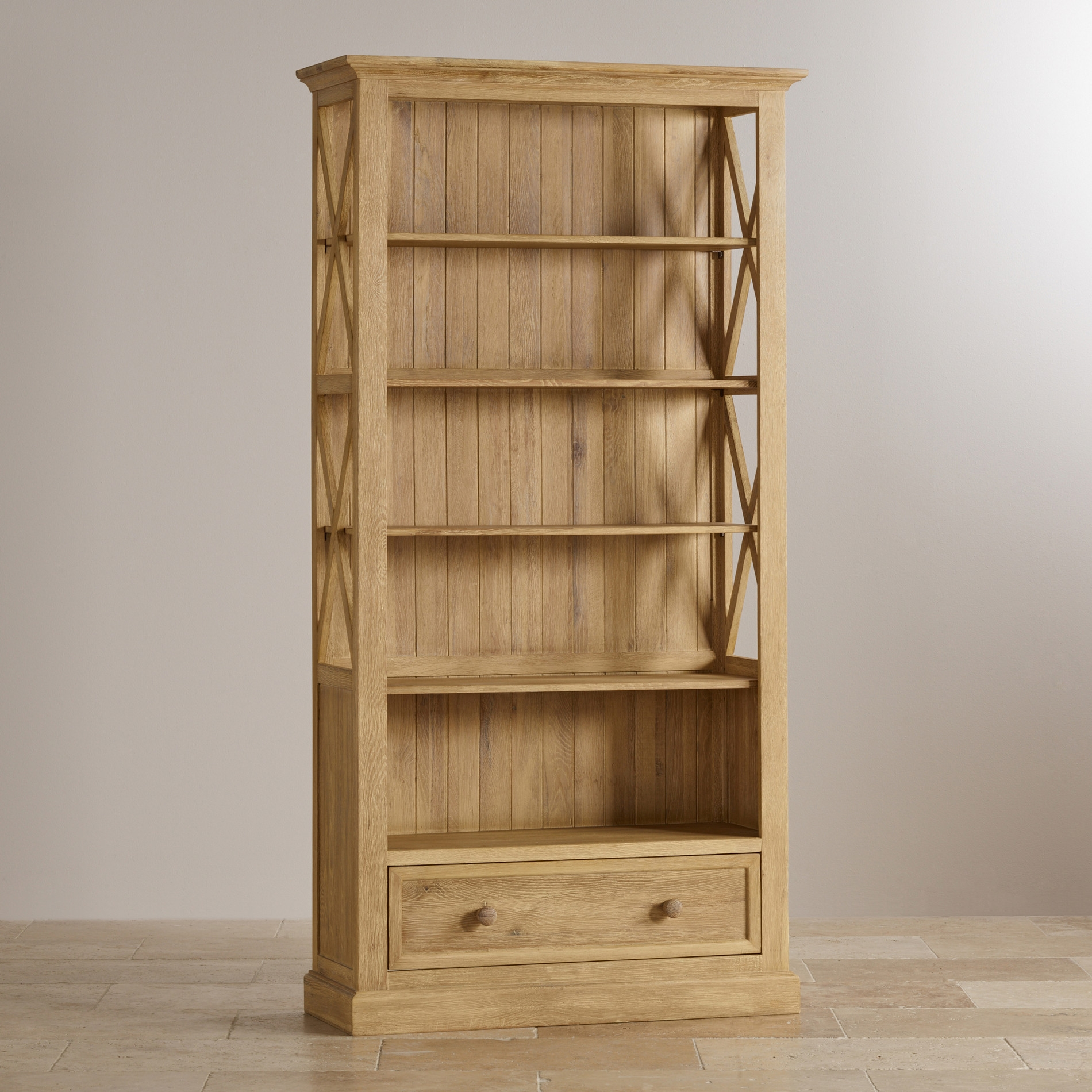Oak Bookcase For Protecting Your Books And Stationery Furniture Regarding Oak Bookcases (View 14 of 15)