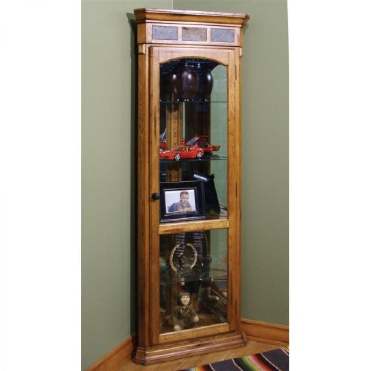 Oak Corner Curio Cabinet Wonderful On Modern Home Decor Ideas For Throughout Corner Oak Bookcase (View 11 of 15)