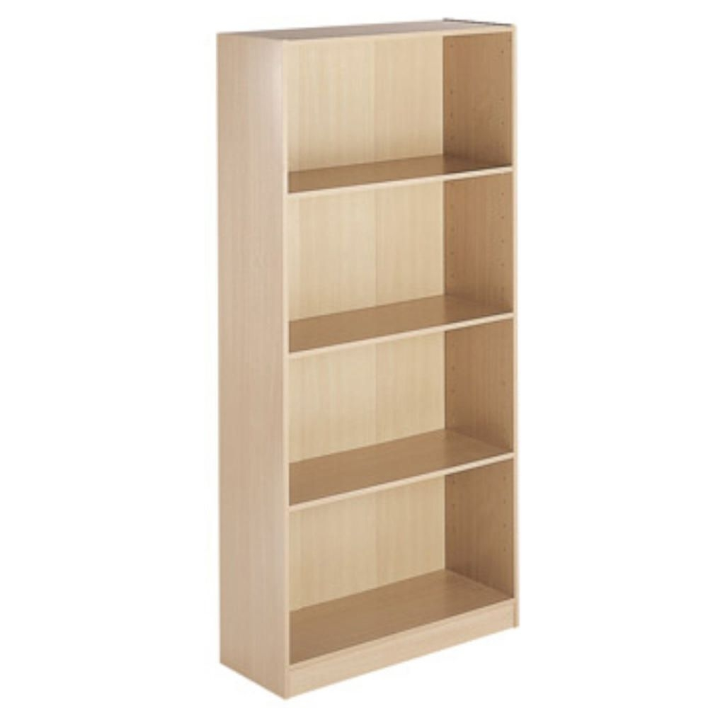 Oakwood Oak Collection Single Glazed Bookcase Staples Throughout Beech Bookcases (View 8 of 15)