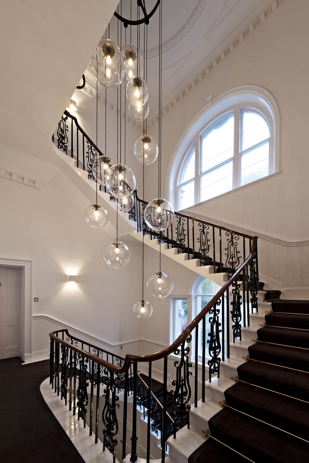 Popular Photo of Stairway Chandelier