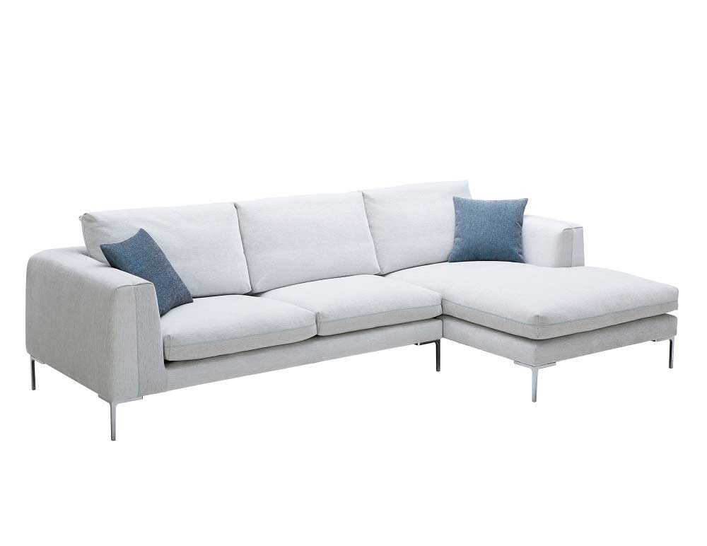 Off White Fabric Sectional Sofa Nj Blanca Fabric Sectional Sofas Within White Fabric Sofas (#10 of 15)
