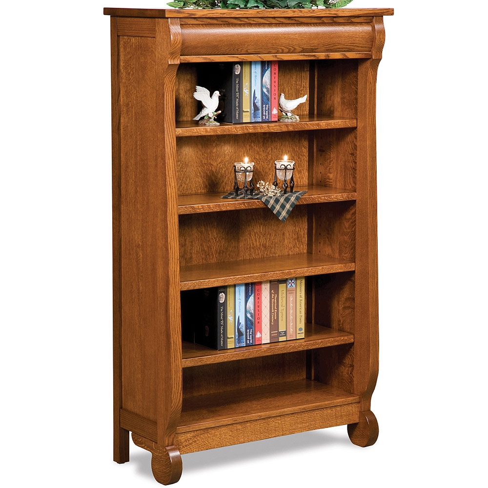 Olde Sleigh Bookcases Amish Handmade Bookcases Office Furniture Pertaining To Handmade Bookcases (#14 of 15)