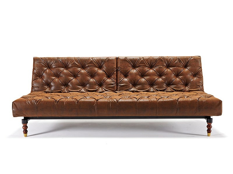 Oldschool Chesterfield Sofa Bed Vintage Leather Textile Innovation Regarding Vintage Leather Sofa Beds (#6 of 15)