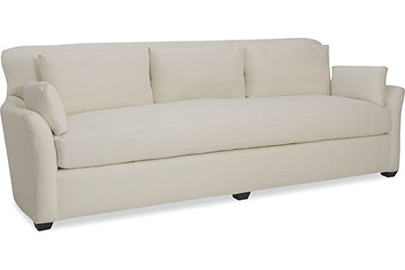 One Cushion Sofa 100 Long In White In Stock Furniture Within One Cushion Sofas (View 8 of 15)