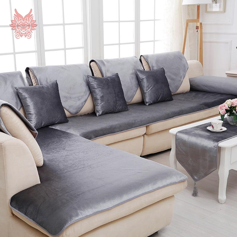 Online Get Cheap Black Sofa Cover Aliexpress Alibaba Group Within Black Slipcovers For Sofas (#12 of 15)