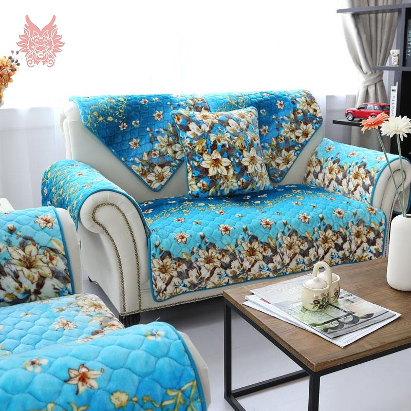 Online Get Cheap Blue Sofa Cover Aliexpress Alibaba Group Regarding Turquoise Sofa Covers (#6 of 15)