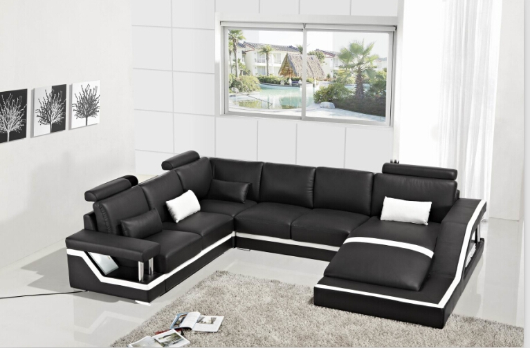 Online Get Cheap Corner Leather Sofas Aliexpress Alibaba Group With Large Black Leather Corner Sofas (#11 of 15)