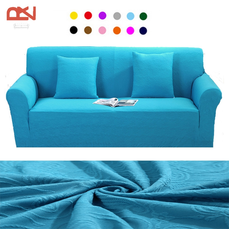Online Get Cheap Jacquard Sofa Slipcover Aliexpress Alibaba In Turquoise Sofa Covers (#7 of 15)