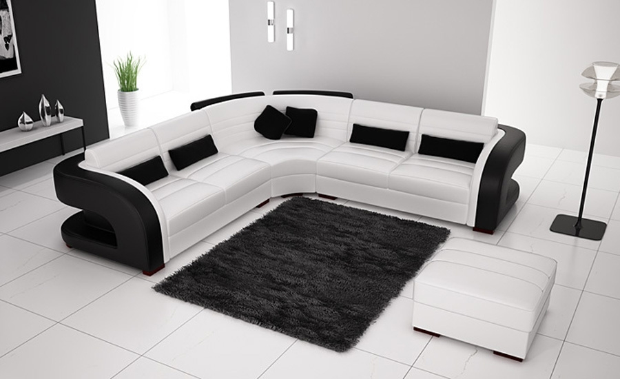 Online Get Cheap White Corner Sofas Aliexpress Alibaba Group Regarding Black And White Sofas (#11 of 15)