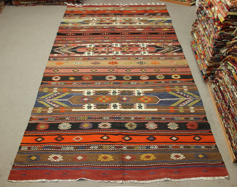 Oriental Vintage Kilim Rug 124×57 Feet Area Rug Home Decor Regarding Organic Wool Area Rugs (#10 of 15)