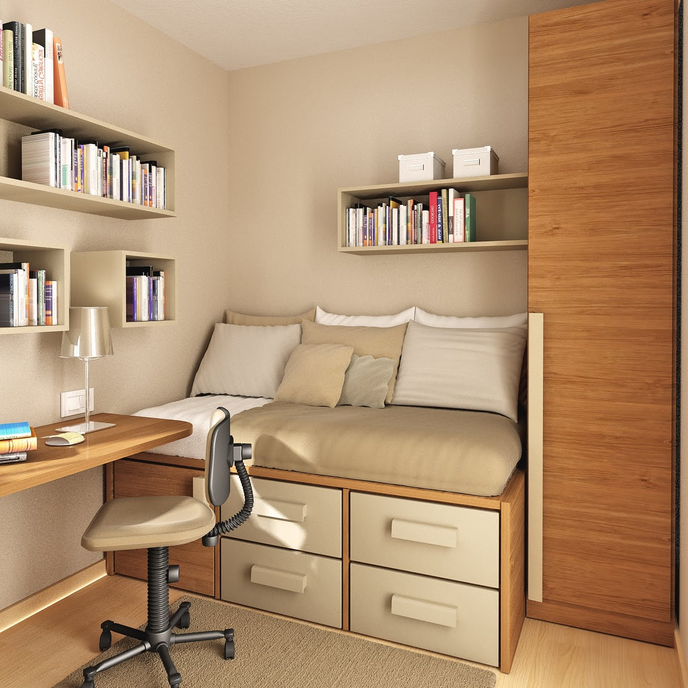 Others Awesome Study Room Design Ideas For Your Inspirations With Study Room Cupboard Design (View 11 of 15)