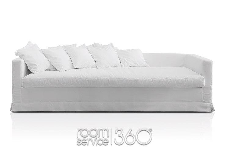 Otto Contemporary Fabric Sofa Pianca Designer Italian Sofa For White Fabric Sofas (#11 of 15)