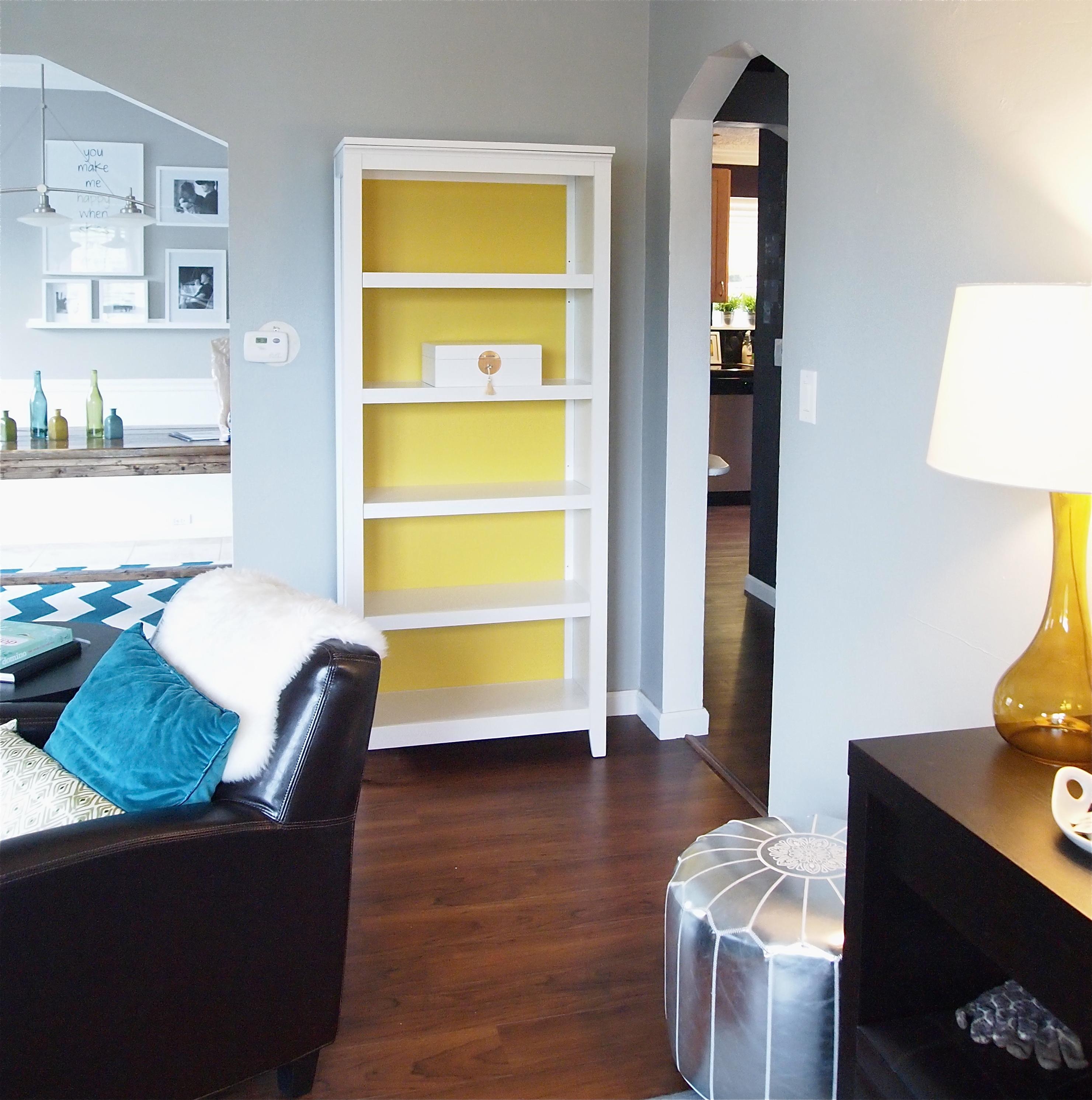 Painted Bookshelf Thrifty Home Design Pertaining To Painted Bookshelf (#10 of 15)